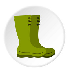 Rubber boots icon circle vector
