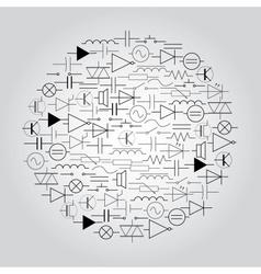 Schematic symbols in electrical engineering in vector