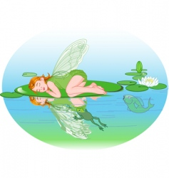 sleeping elf vector image
