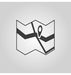 The Map icon Pin on the map symbol Flat vector image
