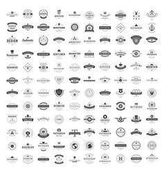 Vintage logos design templates set vector