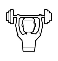 Weightlifter vector