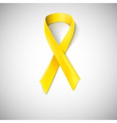 Yellow ribbon loop vector