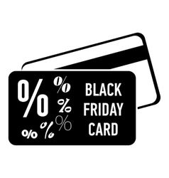 Card discounts black friday icon simple style vector