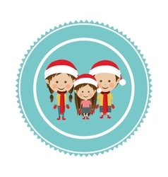 Christmas tag ornament vector