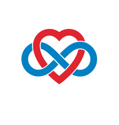 Infinite love concept symbol created with vector