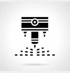 Industrial laser cutter glyph style icon vector