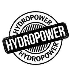 Hydropower rubber stamp vector