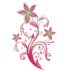 Tendril floral element vector