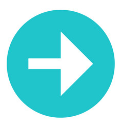 Arrow sign flat circle icon vector