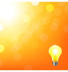 Orange Background With Bokeh And Lamp vector image
