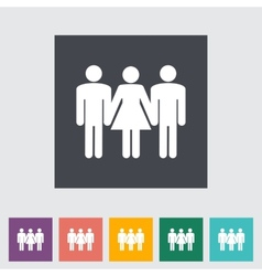 Group sex sign vector