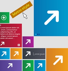 Arrow expand full screen scale icon sign metro vector