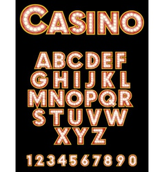 Retro casino font vector