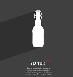 Bottle icon symbol flat modern web design with vector