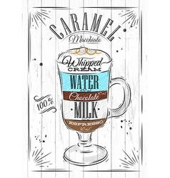 Poster caramel macchiato vector image
