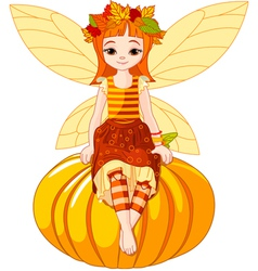 Autumn fairy vector