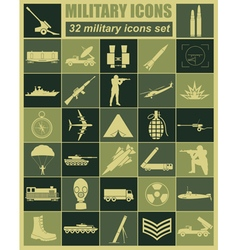 Military icon set constructor kit vector