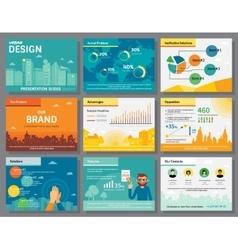 Urban design of infographics presentation slides vector image