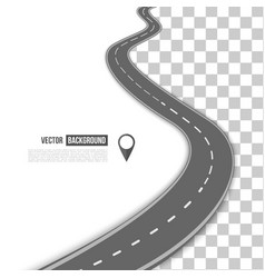 path on the road vector image