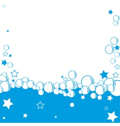 Bubble border vector