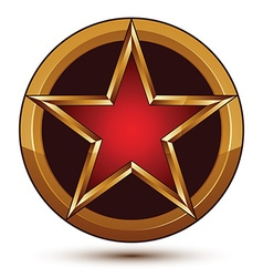 3d classic royal symbol sophisticated red star vector