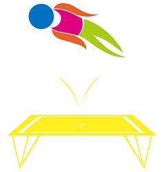 Sport icon design for trampoline vector