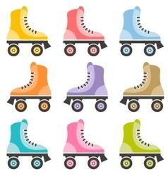 Roller skate set vector