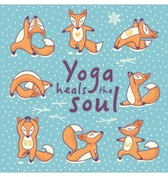 Yoga heals the soul vector