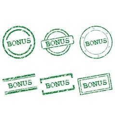 Bonus stamps vector image