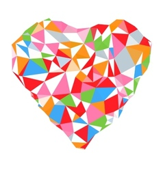 Bright heart in colored on white background vector image