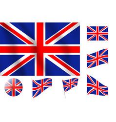Britain flag realistic flag national symbol design vector