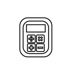 calculator device isolated vector image
