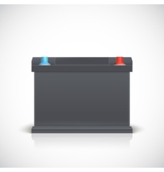 Car battery front view vector