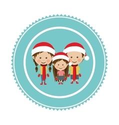 Christmas tag ornament vector