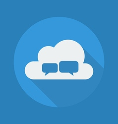 Cloud Computing Flat Icon Chat vector image vector image