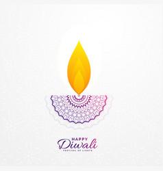 Creative diwali diya design for hindu festival vector