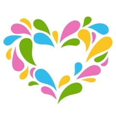 Festive Colorful Heart Icon Isolated on White vector image