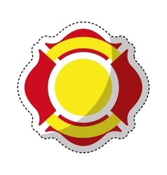 Firefighter shield isolated icon vector