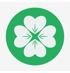 Flat style icon four-leaf clover St Patricks Day vector image