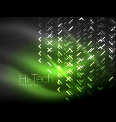 Futuristic neon lights on dark background digital vector