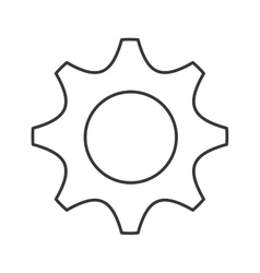 Gear cog machine part design vector