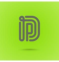 Graphic Line Font Logo Element Letter D vector image vector image