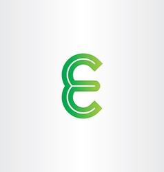 green letter e symbol design vector image