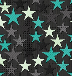 grunge star seamless vector image vector image