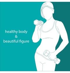 healthy body beautiful figure vector image vector image