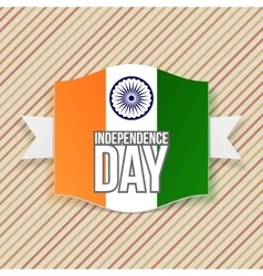 India independence day greeting emblem vector