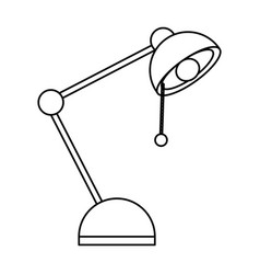 isolated study lamp vector image