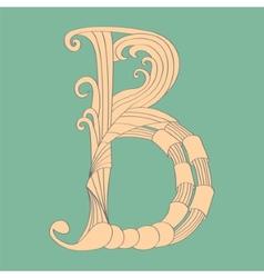 Letter b - script vector
