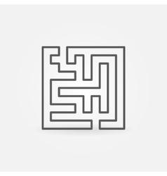 Line maze icon vector image vector image
